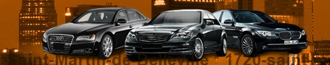 Private chauffeur with limousine around Saint-Martin-de-Belleville | Car with driver
