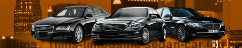 Private chauffeur with limousine around Flims | Car with driver