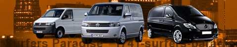 Hire a minivan with driver at Surfers Paradise | Chauffeur with van