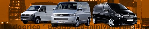 Hire a minivan with driver at Podgorica | Chauffeur with van
