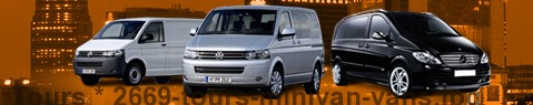 Hire a minivan with driver at Tours | Chauffeur with van