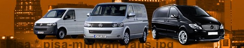 Hire a minivan with driver at Pisa | Chauffeur with van