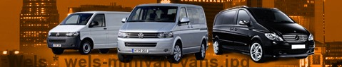 Hire a minivan with driver at Wels | Chauffeur with van