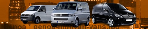 Hire a minivan with driver at Genoa | Chauffeur with van